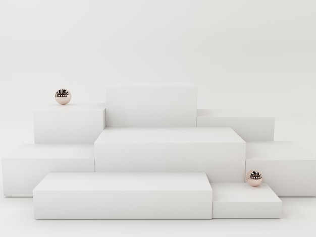 Pódio de exposição de produto branco, abstrato