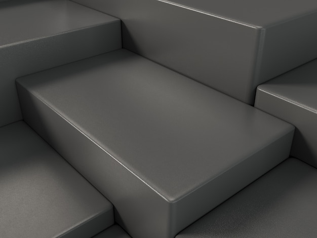 Pódio de exposição de produto preto, abstrato