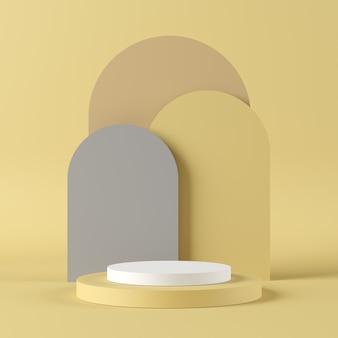 Pódio de forma geométrica para o produto.