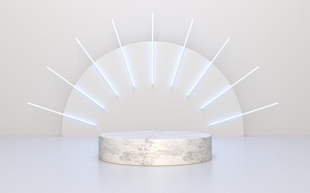 Pódio de mármore vazio para exibição de produtos