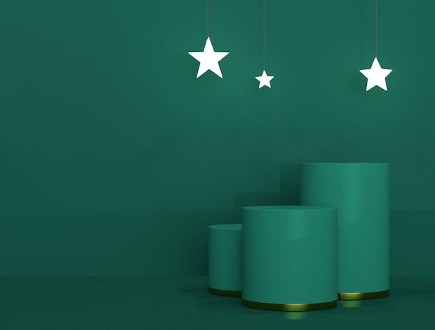 Pódio de natal verde para banners ou promoções