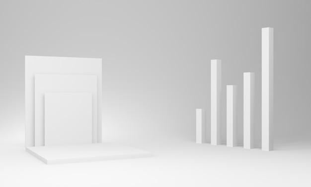 Pódio de palco geométrico branco 3d
