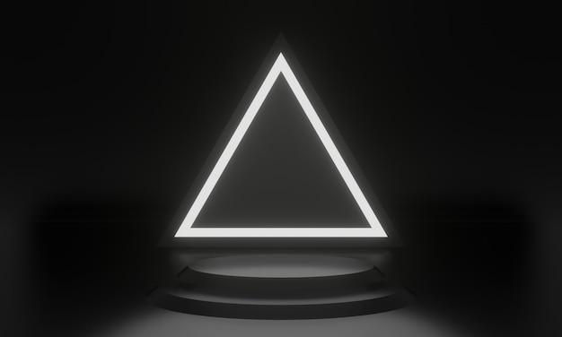 Pódio de palco geométrico preto 3d