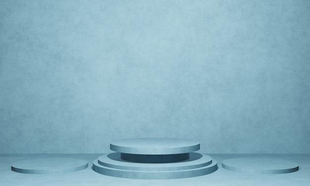 Pódio de produto de cimento renderizado 3d
