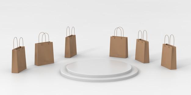 Pódio de renderização 3d para produtos de luxo