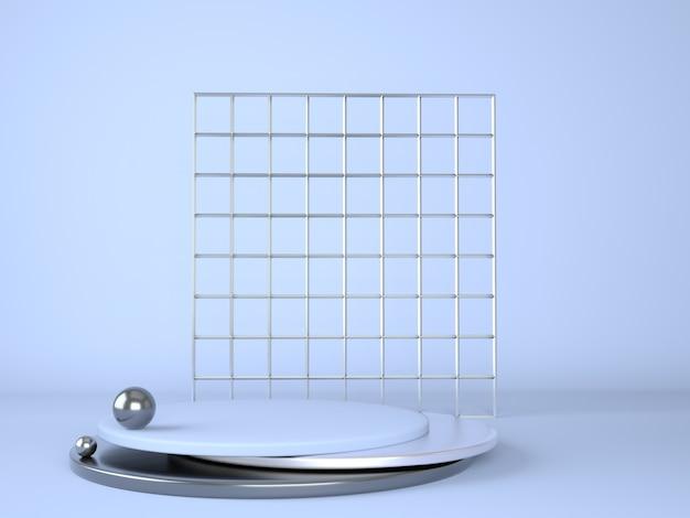 Pódio do produto em fundo pastel 3d