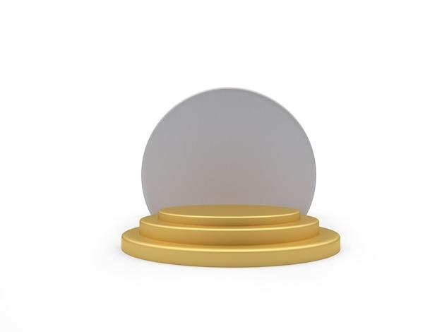 Pódio dourado vazio 3d