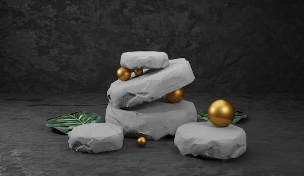 Pódio em pedra natural.