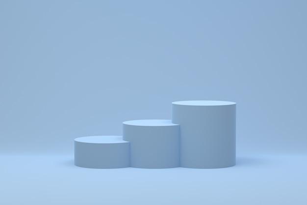 Pódio mínimo abstrato para apresentação de produtos cosméticos