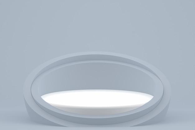Pódio mínimo na apresentação do produto com fundo cinza