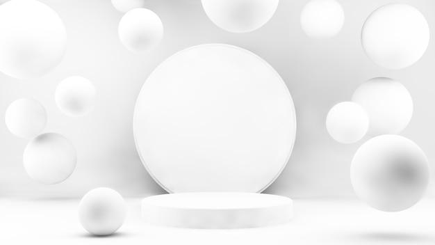 Pódio mínimo para apresentação do produto em renderização 3d