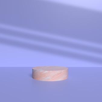 Pódio para colocação de produto com textura cerâmica