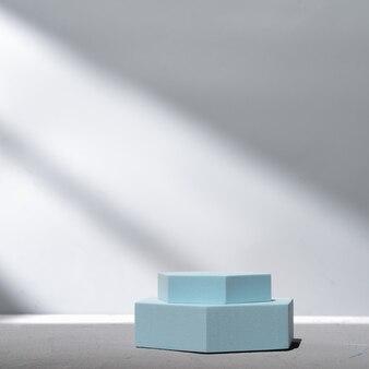 Pódio poligonal para apresentação do produto