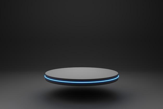 Pódio preto ou display de pedestal
