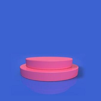 Pódio rosa 3d para colocação de produtos