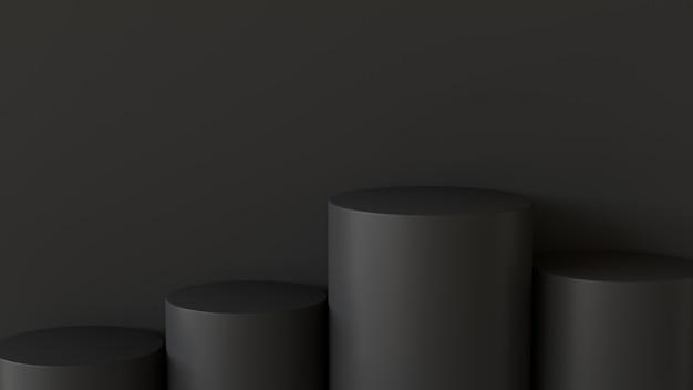 Pódio vazio em fundo escuro