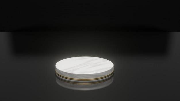 Pódio vazio para exposição do produto