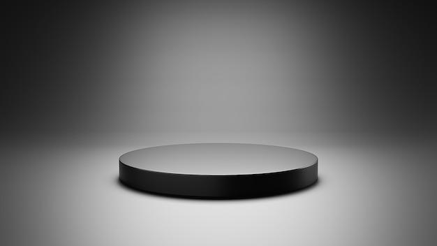 Pódio vazio para renderização 3d de produtos