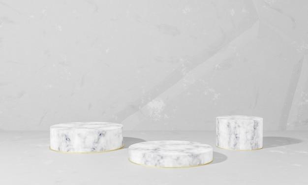 Pódios de mármore para colocar objetos