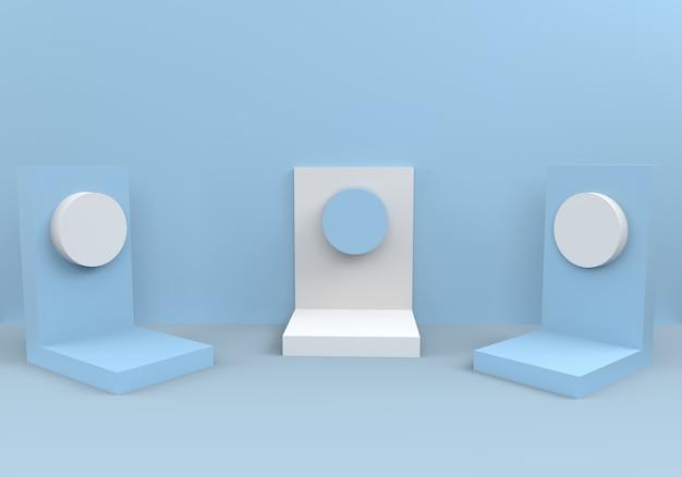 Pódios em composição azul abstrata