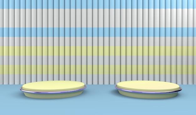 Pódios em composição listrada abstrata