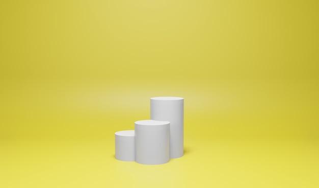 Podium display cor do produto amarelo