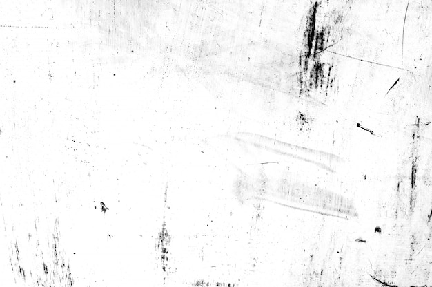 Poeira e metal grunge arranham fundo preto e branco textura