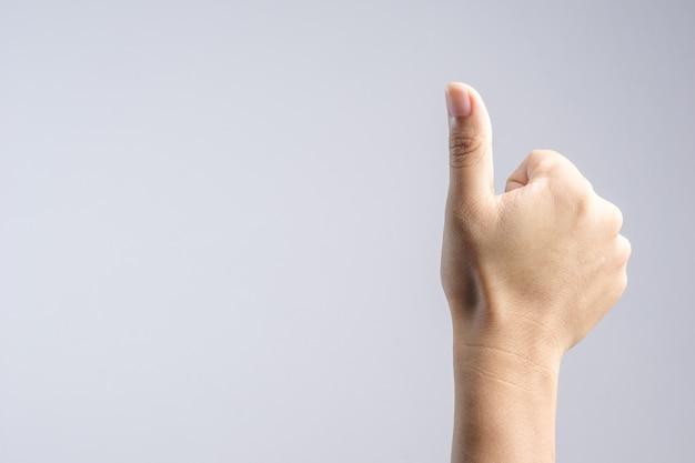 Polegar sinal de mão