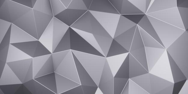 Polígono baixo do triângulo cinza. poligonal triangular geométrico cinza. fundo abstrato do mosaico. ilustração de renderização 3d.
