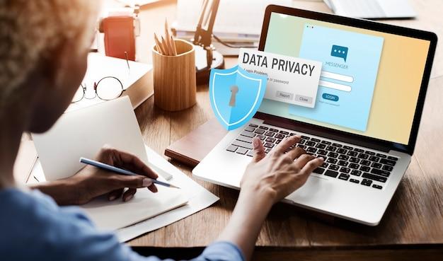 Política de proteção de privacidade de dados conceito jurídico de tecnologia
