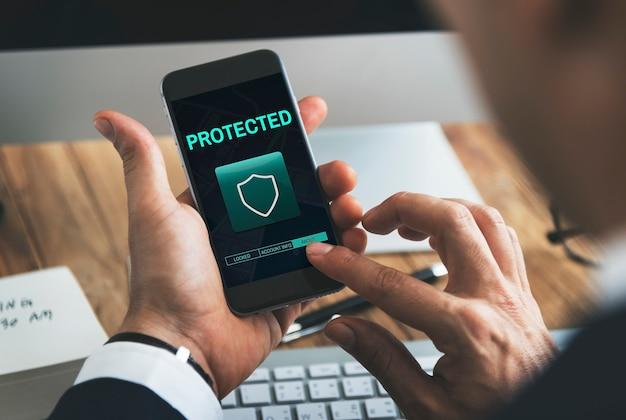 Política de segurança protegida conceito de segurança