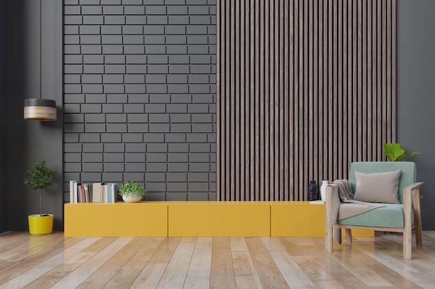Poltrona interior moderna sala de estar