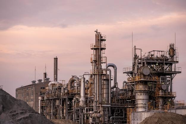 Poluição ambiental e exterior da fábrica