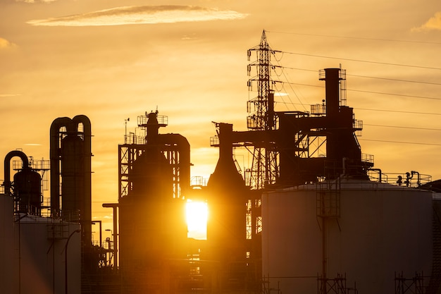 Poluição ambiental e exterior da indústria