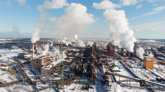 Poluição das plantas atmosféricas. gases de escape