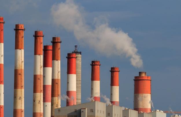 Poluição de emissões de fábricas de aquecimento global