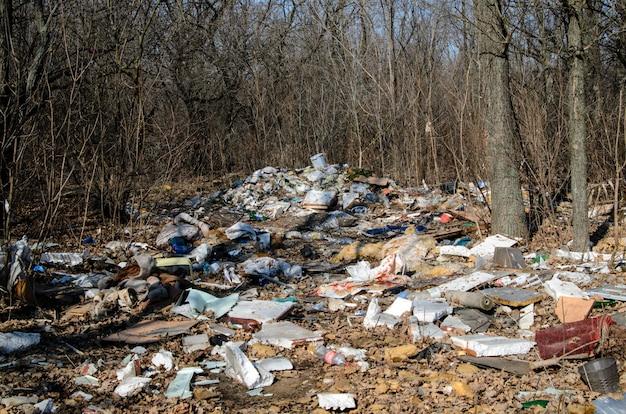 Poluição, lixo, natureza