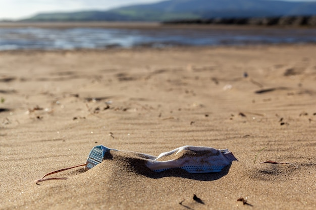 Poluição na praia