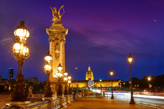 Pont alexandre iii em paris france over seine