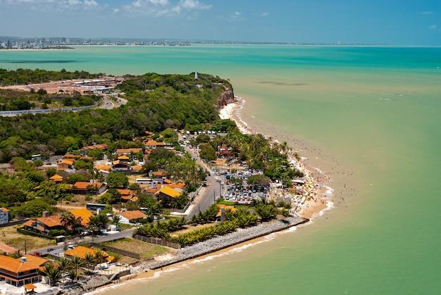 Ponta da praia de seixas em joao pessoa paraiba brasil em 18 de novembro de 2007