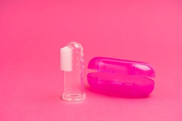 Ponta do dedo da escova de dentes compacta