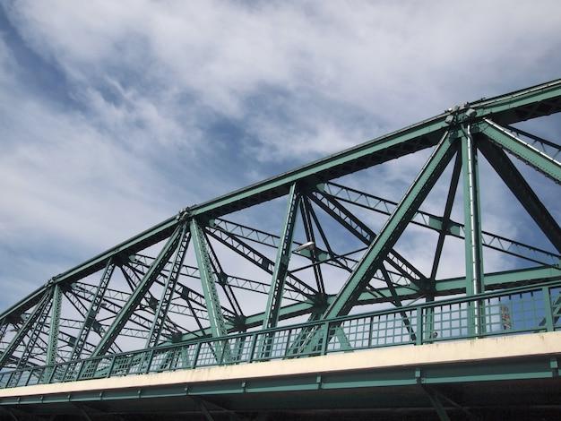 Ponte de aço (ponte industrial da estrada de anel), banguecoque, tailândia