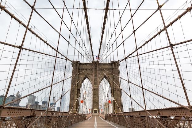 Ponte de brooklyn, ninguém, cidade de nova york, eua