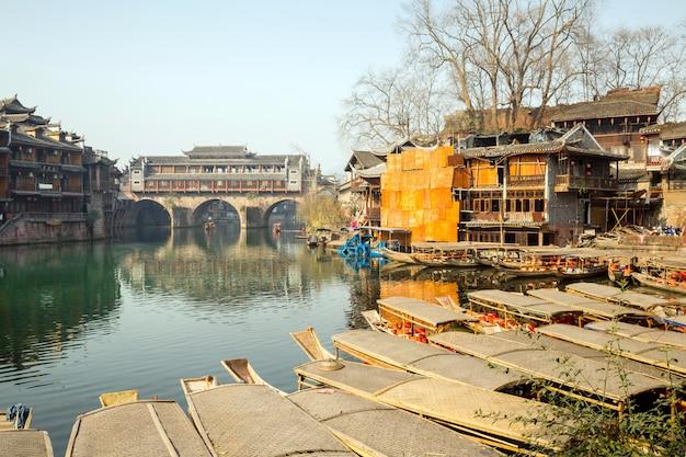 Ponte de hongqiao em fenghuang china