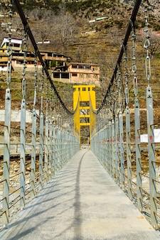Ponte, de, rio golpe, kalam, swat, paisagem paisagem