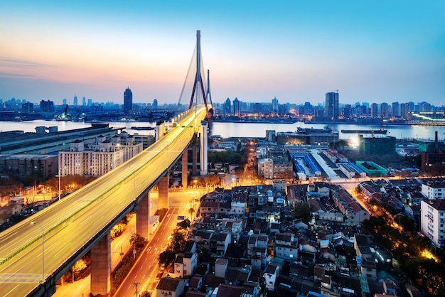 Ponte de yangpu, em xangai, china