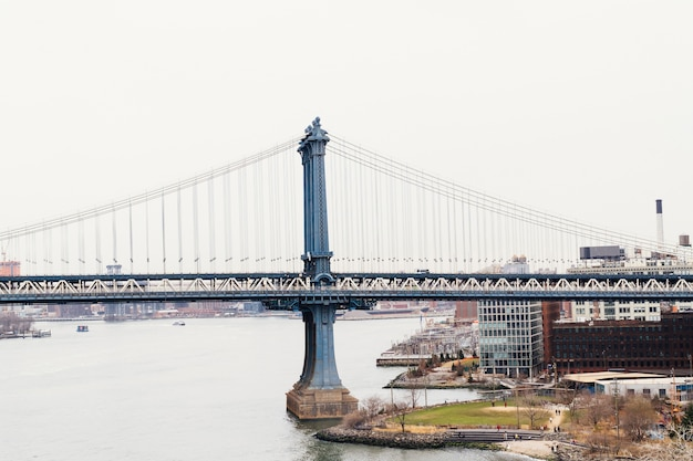 Ponte do brooklyn e nova iorque