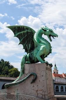 Ponte do dragão em liubliana, eslovénia
