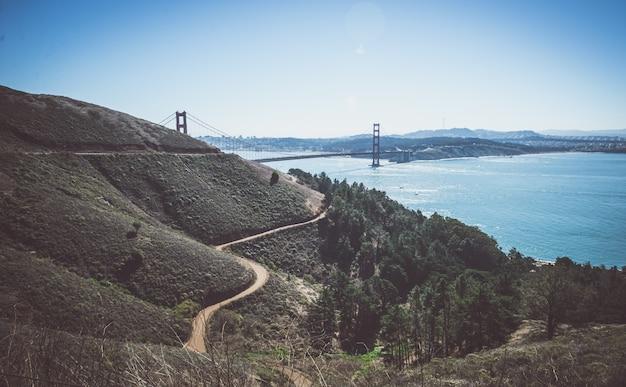 Ponte golden gate em san francisco e paisagem