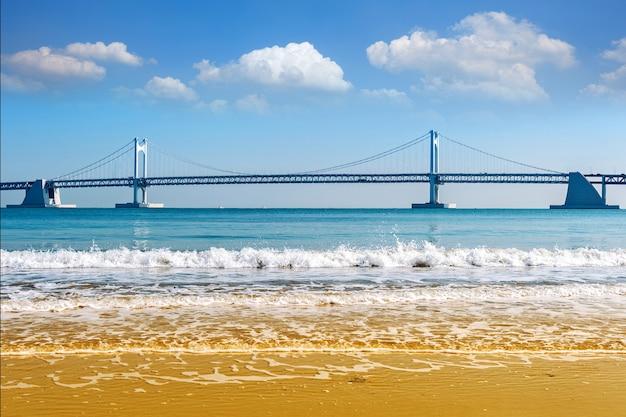 Ponte gwangan e haeundae em busan, coreia